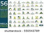 mega set and big group  real... | Shutterstock .eps vector #550543789