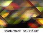 retro pattern of geometric... | Shutterstock . vector #550546489