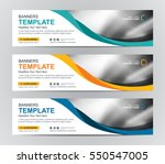 Abstract Web banner design background or header Templates | Shutterstock vector #550547005