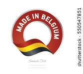 made in belgium flag red color... | Shutterstock .eps vector #550547851