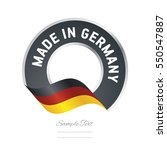 made in germany flag black... | Shutterstock .eps vector #550547887