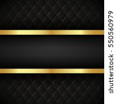 black stripe with gold border... | Shutterstock .eps vector #550560979
