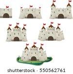 vector cartoon castle for the... | Shutterstock .eps vector #550562761