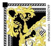 scarf print design | Shutterstock . vector #550565749
