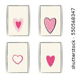 set of love card templates.... | Shutterstock .eps vector #550568347