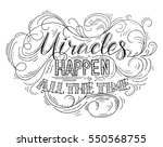 miracles happen all the time.... | Shutterstock .eps vector #550568755