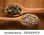 Food Ingredients In Wooden...