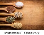 food ingredients in wooden... | Shutterstock . vector #550569979