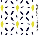 seamless pattern with yellow... | Shutterstock .eps vector #550577695