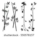 hand painted asian traditional... | Shutterstock .eps vector #550578157