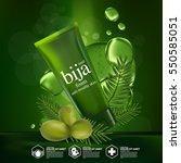 bija seed nature cosmetic skin... | Shutterstock .eps vector #550585051