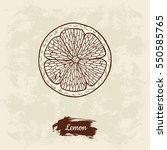 hand drawn sketch fruit lemon ... | Shutterstock .eps vector #550585765