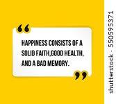vector quote. happiness... | Shutterstock .eps vector #550595371