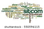 word cloud related to tv... | Shutterstock .eps vector #550596115