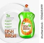 vector green kitchen dish wash... | Shutterstock .eps vector #550605499
