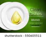 vector kitchen dish wash drop... | Shutterstock .eps vector #550605511