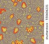 flower texture. ethnic seamless ...   Shutterstock .eps vector #550606231