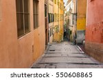 an old narrow street. france. | Shutterstock . vector #550608865