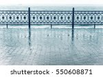 rainfall on a waterfront. | Shutterstock . vector #550608871