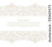 vintage frame. decorative... | Shutterstock .eps vector #550609375