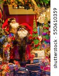 Small photo of Aachen, Germany - December 27, 2016: christmas decorated window display of a Printen shop in the old town of Aachen. The world renown Aachener Printen are a type of Lebkuchen originated from Aachen