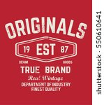 original t shirt. typography... | Shutterstock .eps vector #550610641