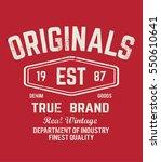 original t shirt. typography... | Shutterstock .eps vector #550610641