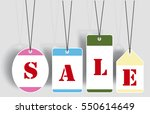 vector sale tags   labels | Shutterstock .eps vector #550614649