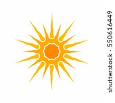 sun icon. sunlight symbol.... | Shutterstock .eps vector #550616449