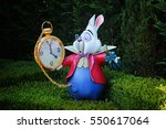 Stock photo the rabbit is late 550617064