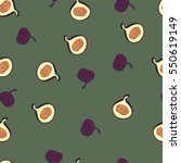 seamless pattern with fruit... | Shutterstock .eps vector #550619149