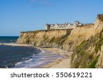 resort on top of eroded cliffs... | Shutterstock . vector #550619221
