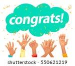 vector congratulation card with ... | Shutterstock .eps vector #550621219