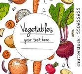 vegetables. fresh food. fresh... | Shutterstock .eps vector #550623625