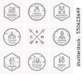 set of logos and symbols for...   Shutterstock .eps vector #550623649