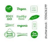 vector hand drawn logos.... | Shutterstock .eps vector #550626199