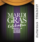 mardi gras background with... | Shutterstock .eps vector #550626319