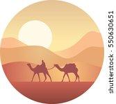 Bedouin Leading A Caravan Of...