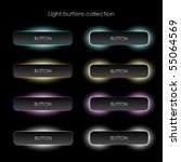 glow button set | Shutterstock .eps vector #55064569