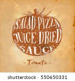 poster tomato cutting scheme...   Shutterstock . vector #550650331