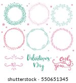 set of simple hand drawn floral ...