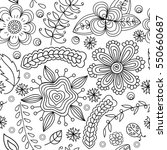 seamless pattern with flowers... | Shutterstock .eps vector #550660687