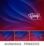 curvy abstract background.... | Shutterstock .eps vector #550663141