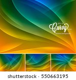 curvy abstract background.... | Shutterstock .eps vector #550663195