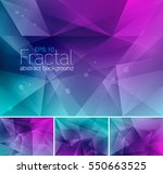 fractal abstract background... | Shutterstock .eps vector #550663525