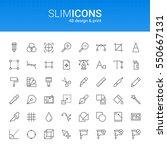 minimalistic slim line design   ... | Shutterstock .eps vector #550667131
