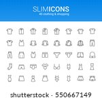 minimalistic slim line clothing ... | Shutterstock .eps vector #550667149