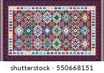 colorful mosaic oriental kilim...   Shutterstock .eps vector #550668151