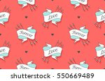 seamless pattern with words... | Shutterstock .eps vector #550669489