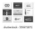 vector set of creative business ... | Shutterstock .eps vector #550671871